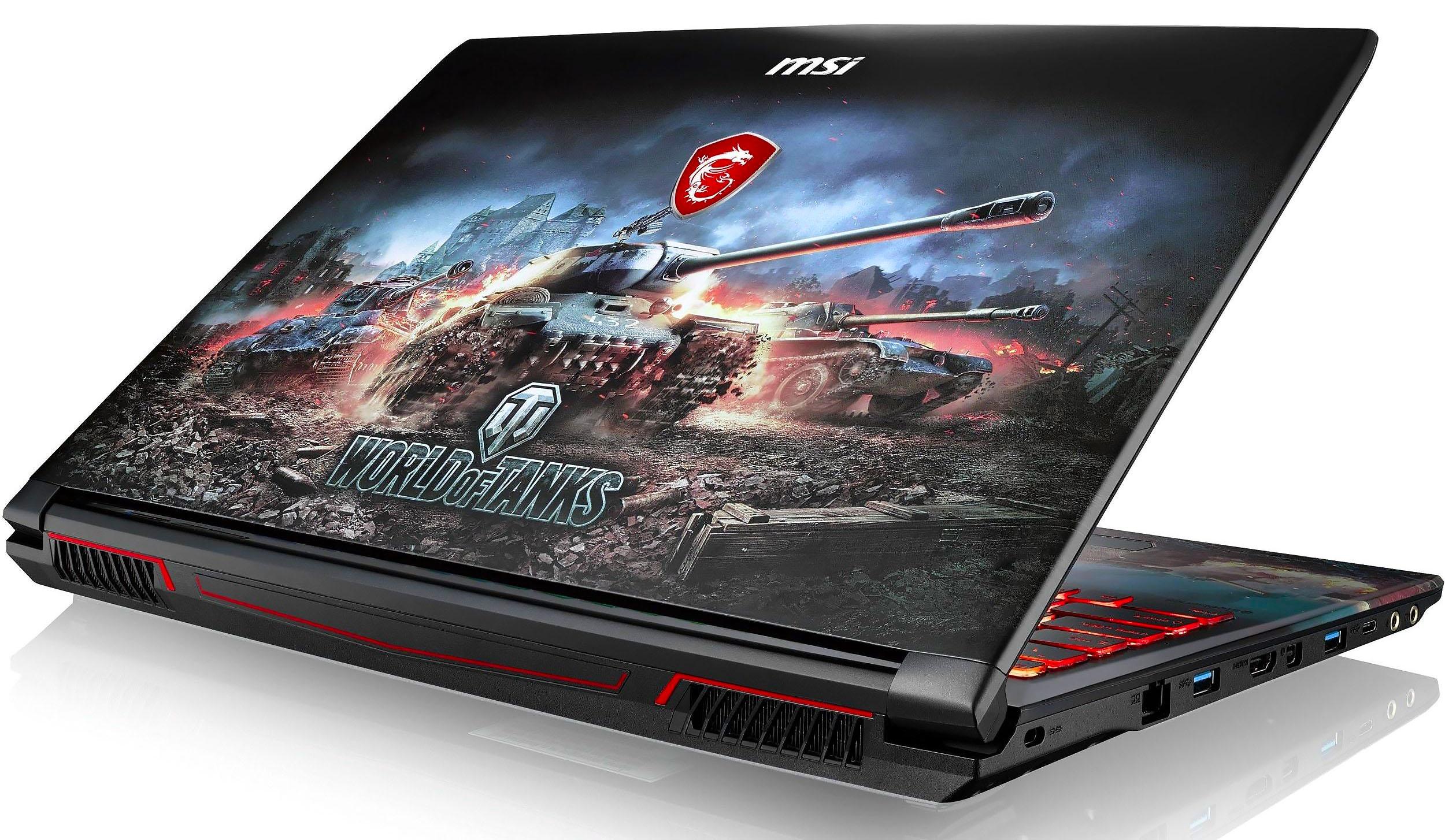 Стилизованный игровой ноутбук для геймеров