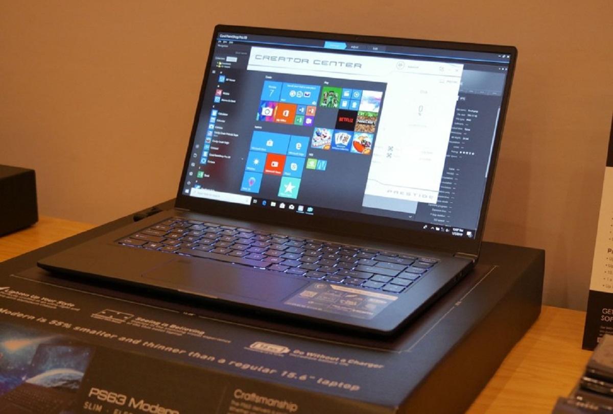 Фото ноутбука MSI PS63