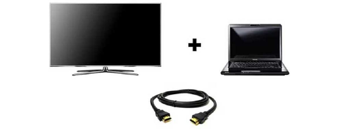 Варианты проводного соединения ноутбука и телевизора