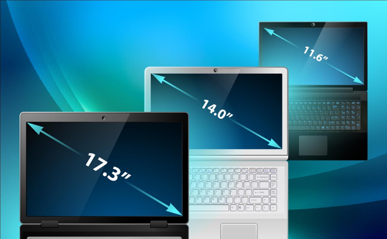 Размеры дисплеев на ноутбуке