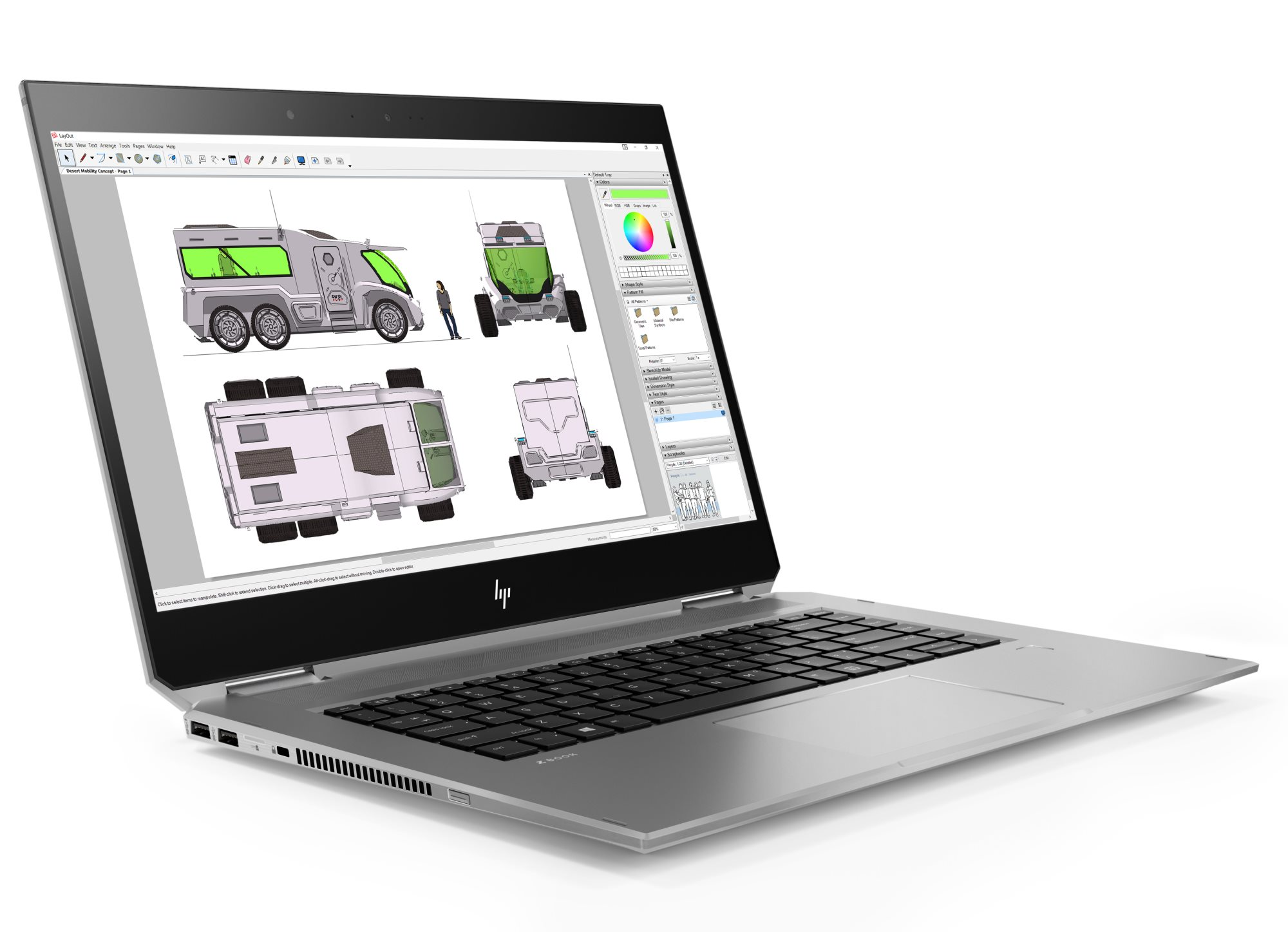Модель ноутбука HP ZBook Studio x360 G5