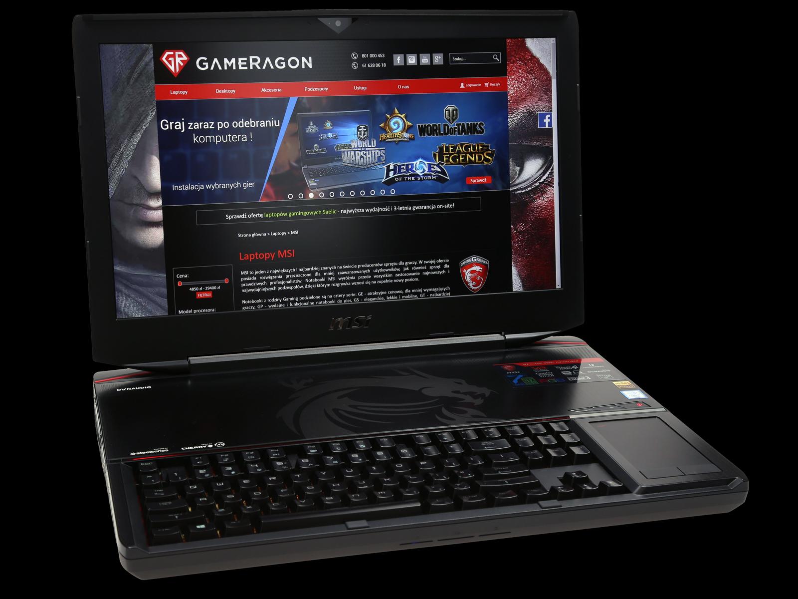 Модель ноутбука MSI GT83VR 7RE Titan SLI