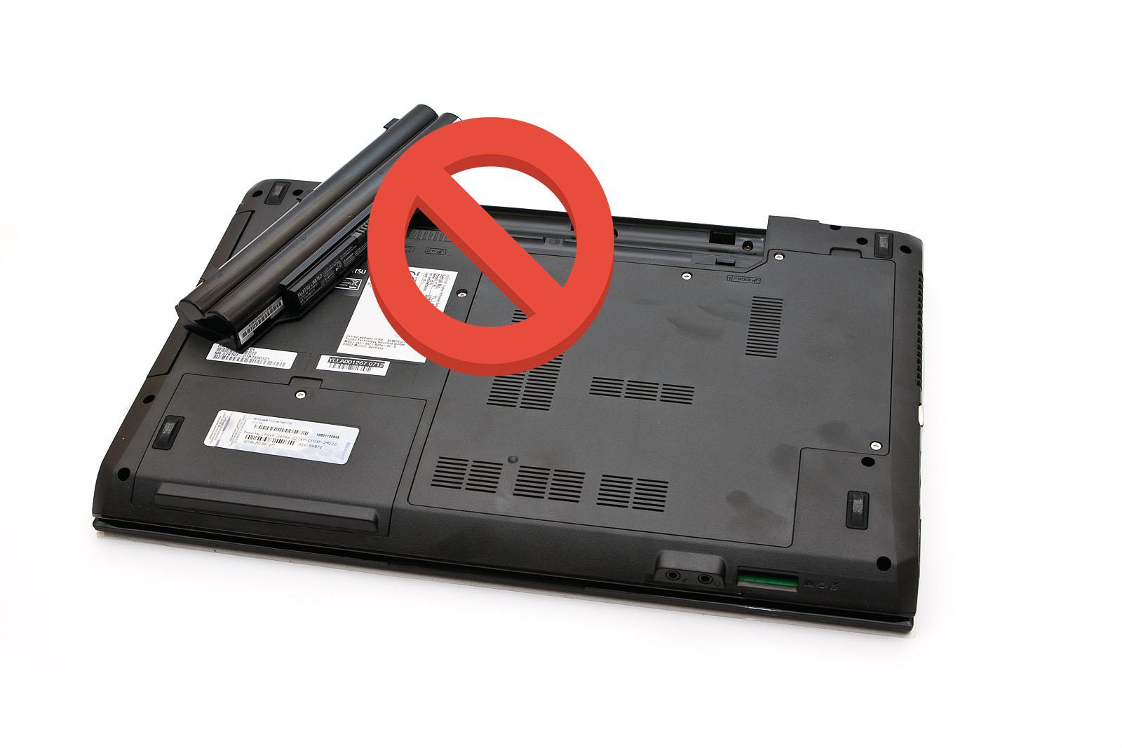 Аккумулятор, снятый с ноутбука