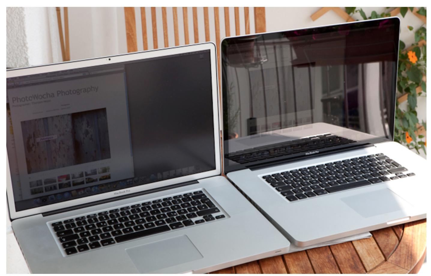 Матовый и глянцевый экраны ноутбука