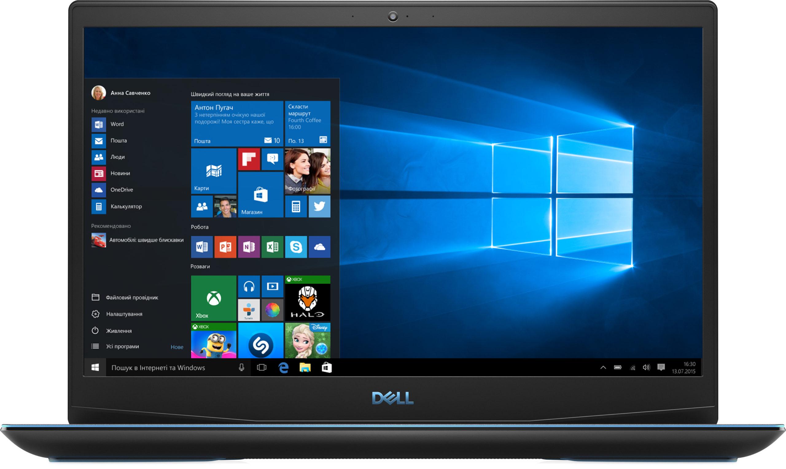 На фото ноутбук Dell G3 15