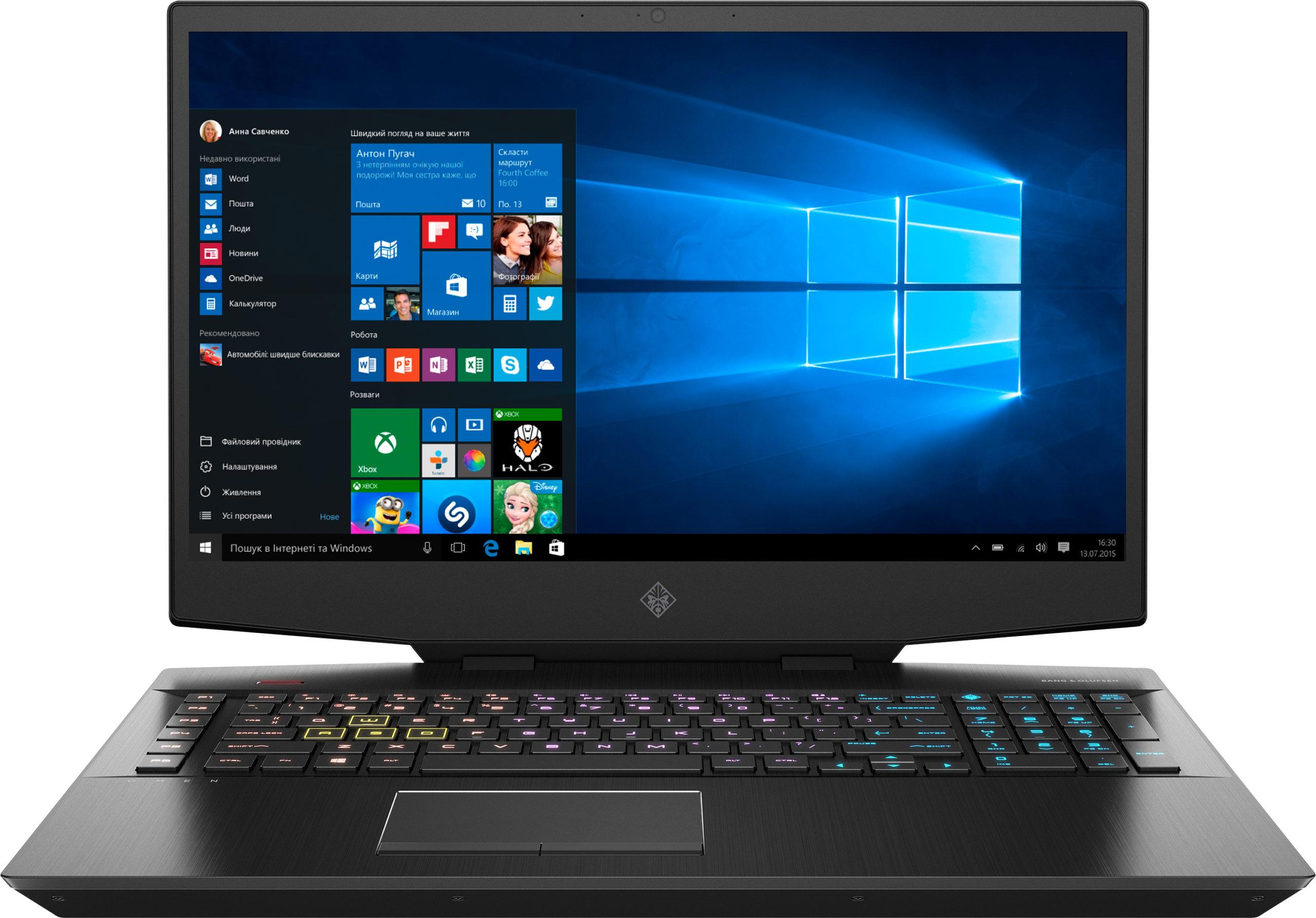 На фото ноутбук HP OMEN 17-cb0043ur