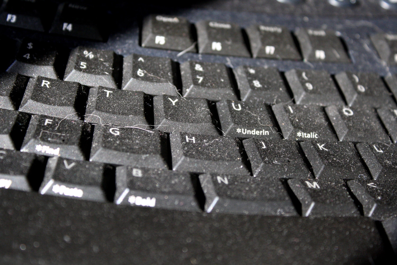 Фото грязной клавиатуры