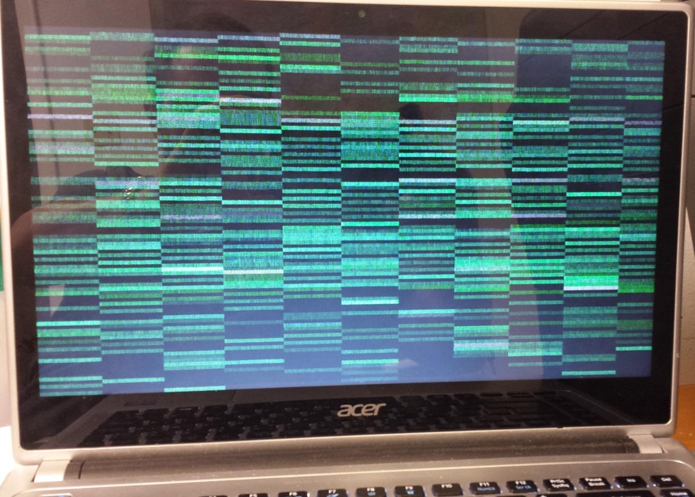 Фото мерцающего экрана