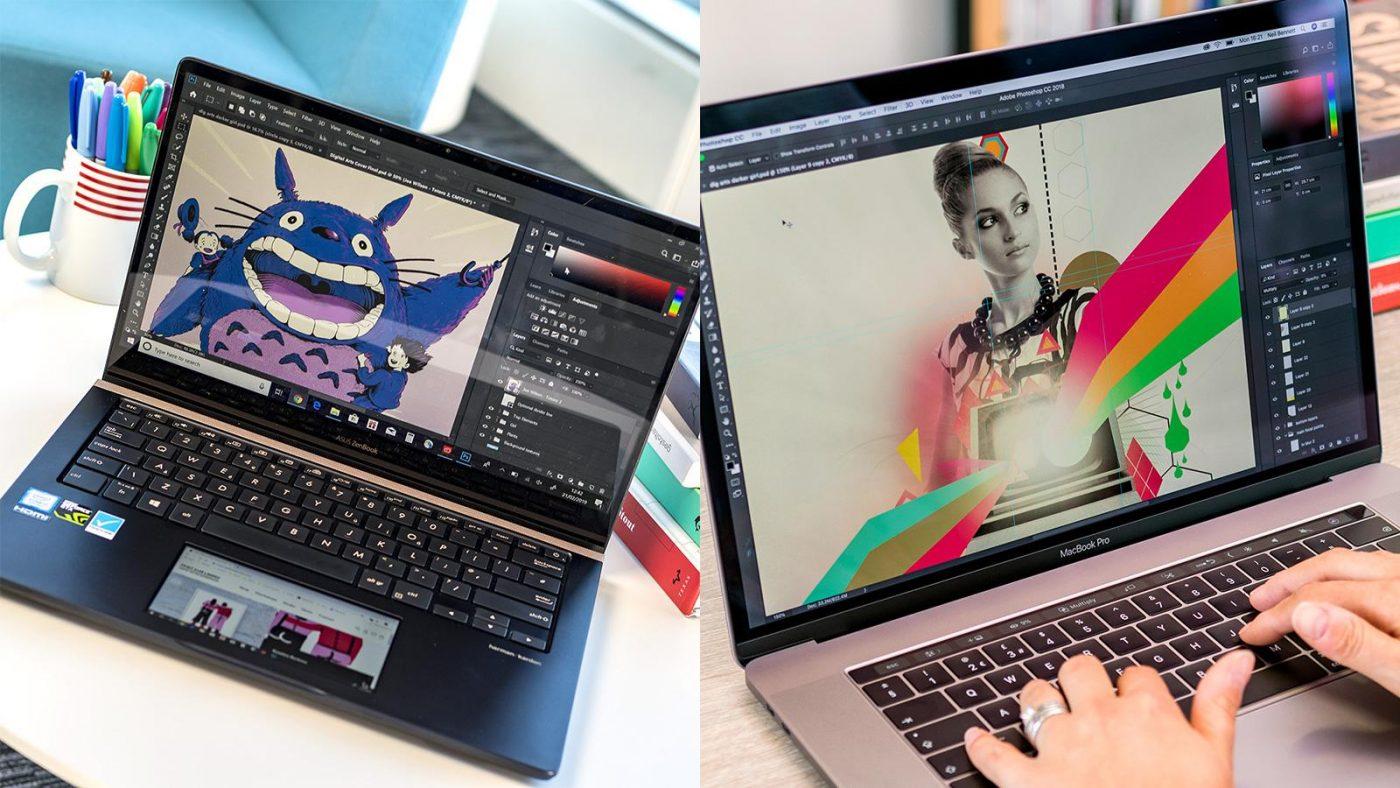 Фото ноутбука для дизайнера