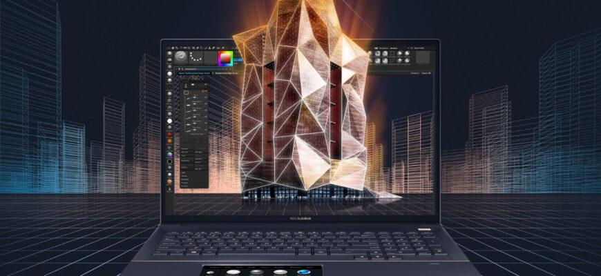 Studio book 16 с 4 K от компании Asus с OLED дисплеем