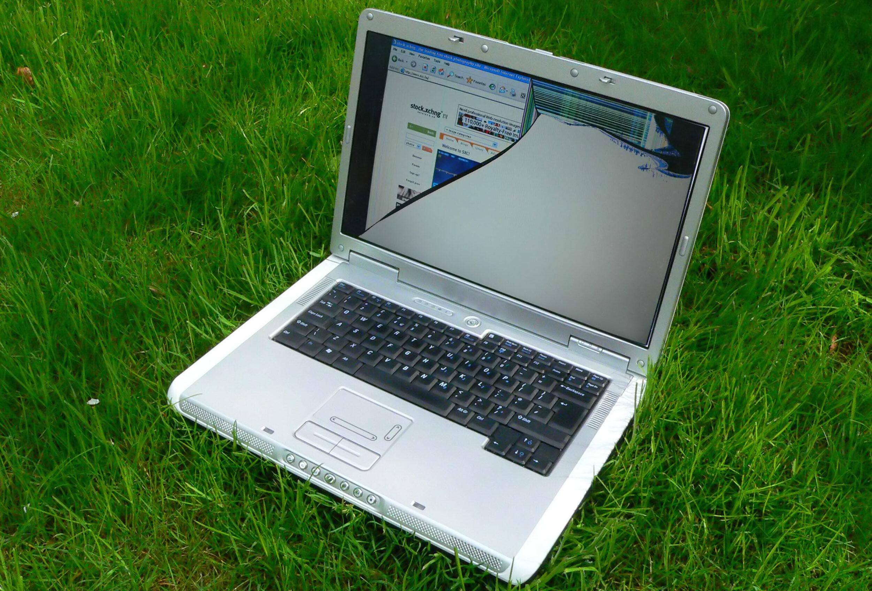 Фото нерабочего ноутбука